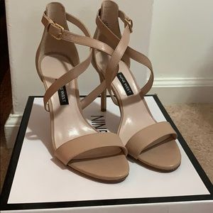 Like New Beige Nine West Sandals